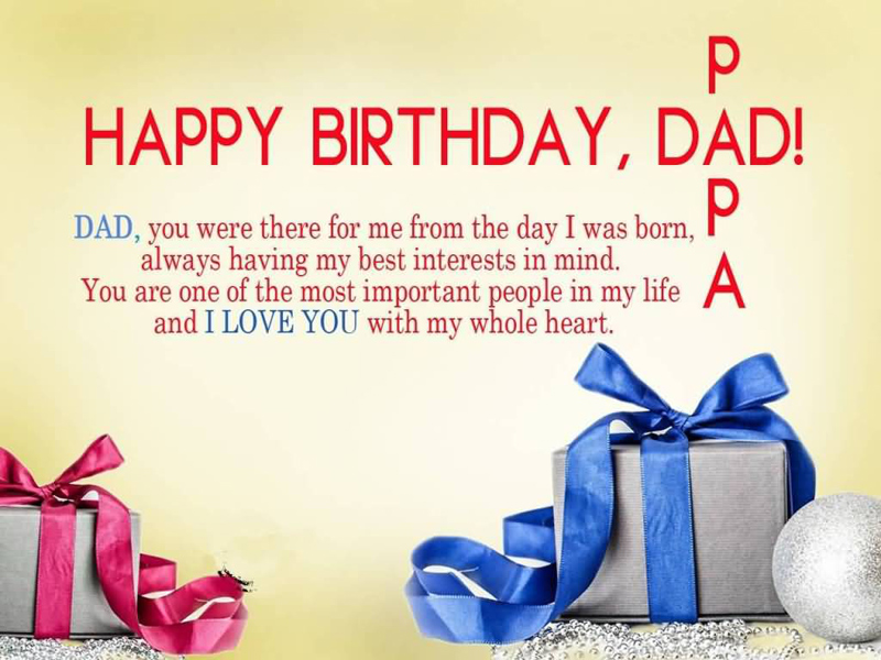 Happy Birthday wishes dad