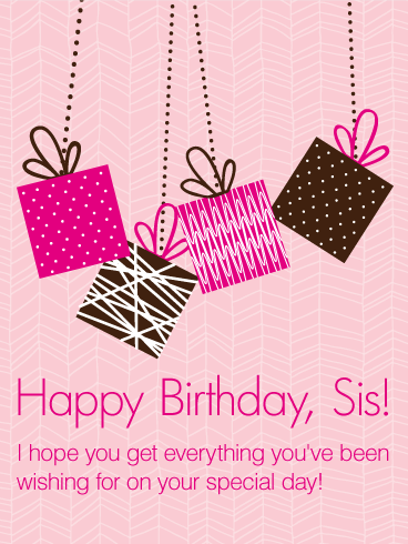 Birthday wishes for a cute sister