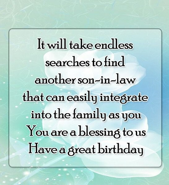 Birthday Wishes For Son In Law