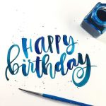 Happy Birthday Text Art