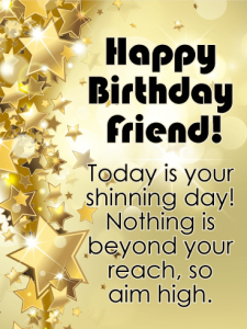 Happy Birthday Wishes To A Friend