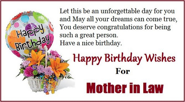 Happy Birthday Wishes for Teacher Mother in Law